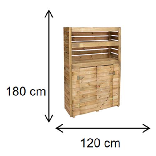 cerca de madeira para jardim leroy merlin:Armário de madeira – BELI – Leroy Merlin