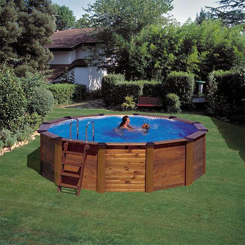 Jardim com piscina redonda v rias id ias - Imagenes de piscinas con jacuzzi ...