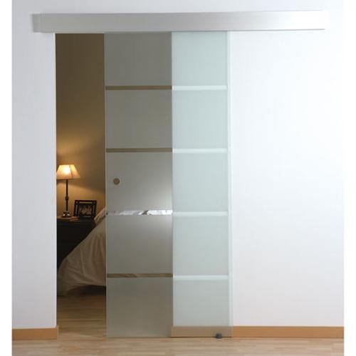 Porta de correr em vidro miami 73cm leroy merlin - Puertas correderas jardin leroy merlin ...