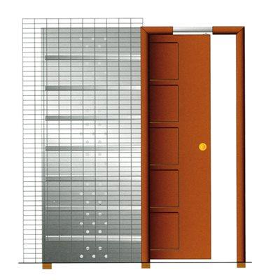 Cassete para porta de correr parede de reboco 60cm for Porta leroy merlin