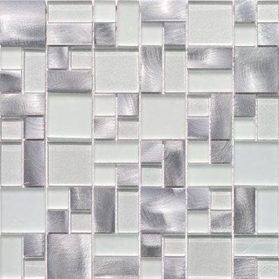 Revestimento cer mico 30x30cm mosaicos eidos plata - Ceramica leroy merlin ...