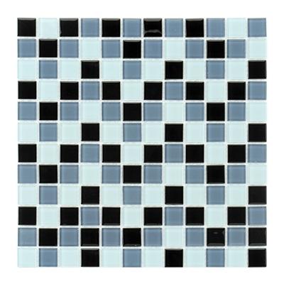 Pastilha 30x30cm mosaico mix preto cinza leroy merlin - Mosaico leroy merlin ...