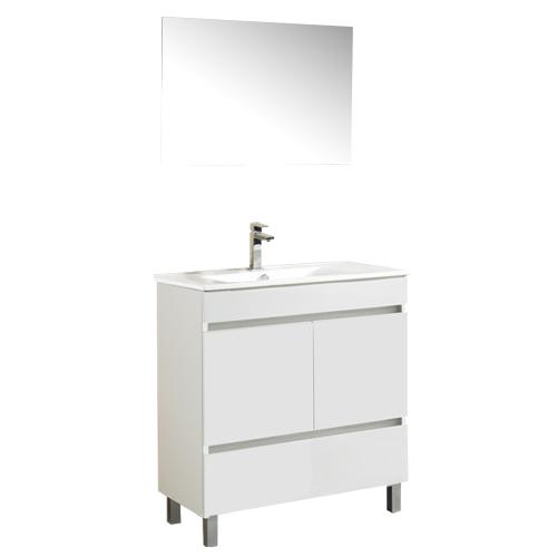 Armario Keter Para Exteriores ~ Móvel com lavatório e espelho SLIM BRANCO 80 Leroy Merlin