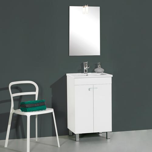 Armario Keter Para Exteriores ~ Móvel com lavatório e espelho NEREA LINE 50 Leroy Merlin