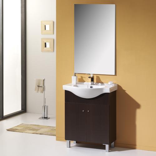 Armario Keter Para Exteriores ~ Móvel com lavatório e espelho NEREA CLASSIC WENGUE 50 Leroy Merlin