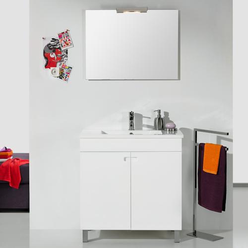 Armario Keter Para Exteriores ~ Móvel com lavatório e espelho NEREA LINE 80 Leroy Merlin