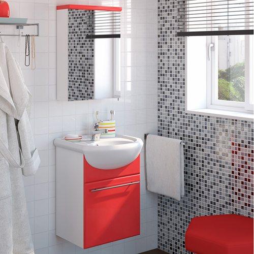 Armario Keter Para Exteriores ~ Móvel com lavatório e armário INFINITY VERMELHO Leroy Merlin