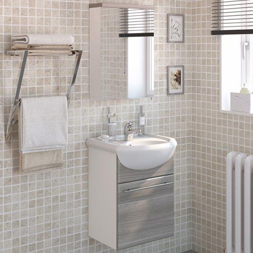 Armario Keter Para Exteriores ~ Móvel com lavatório e armário INFINITY CINZA ARENADO Leroy Merlin