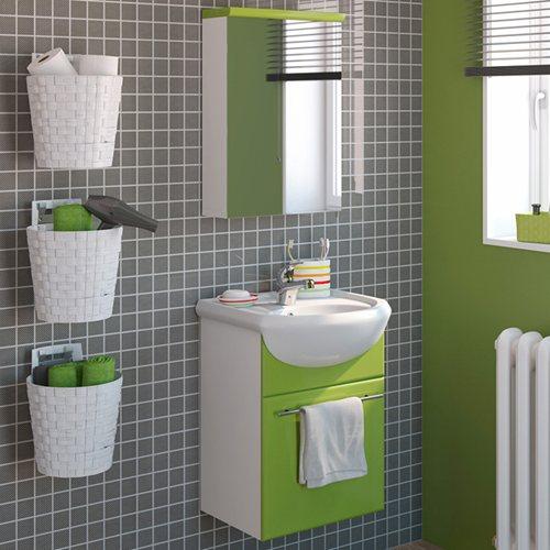 Armario Keter Para Exteriores ~ Móvel com lavatório e armário INFINITY PISTACHO Leroy Merlin