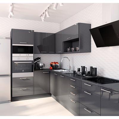 Cozinha delinia galaxy cinza escuro leroy merlin for Muebles de cocina 1 80m