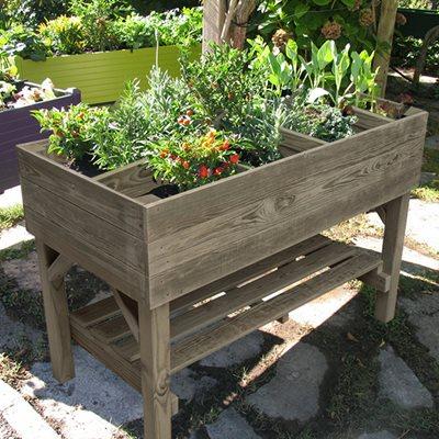 Horta urbana elevada madeira 120x60x80cm leroy merlin for Construir mesa de cultivo