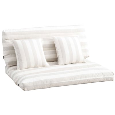 Conjunto de almofadas para palete palet 4uds bege for Sofa exterior leroy merlin