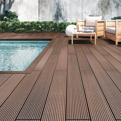 Deck de composite 230x145cm 23mm castanho leroy merlin - Composiet dekbord leroy merlin ...