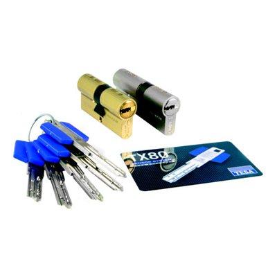 Cilindro chave pontos 30x40mm tesa tx80 leroy merlin for Cerraduras tesa leroy merlin