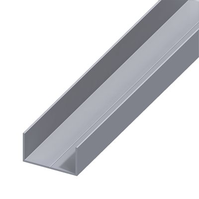 Perfil em u alum nio 11 5x19 5mm leroy merlin - Perfil aluminio u ...