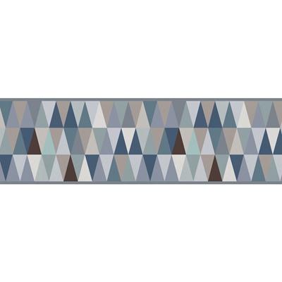 Friso decorativo adesivo tri ngulos azul leroy merlin - Friso de papel ...