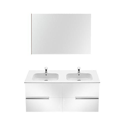 Movel Aparador Leroy Merlin ~ Móvel com lavatório, espelho e aplique VICTORIA N BRANCO 120 Leroy Merlin